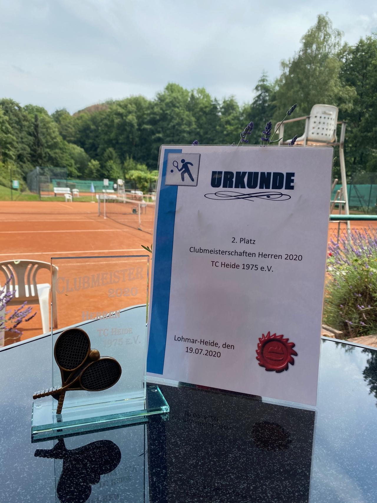 Clubmeisterschaft Herren 2. Platz